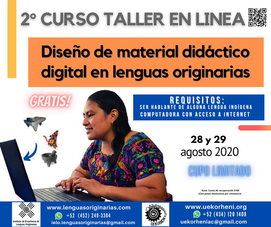 2° Taller de Diseño de Material Didáctico Digital en Lenguas Originarias